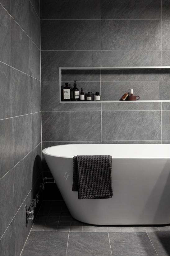 Götgatan Södermalm bathroom bath grey white soap Fantastic Frank