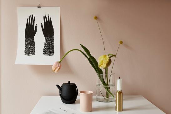 Heleneborgsgatan kitchen details tulips brass pink Fantastic Frank