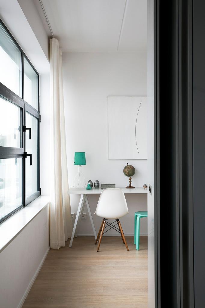 Sjöstaden turkoise grey bedroom window stockholm Fantastic Frank
