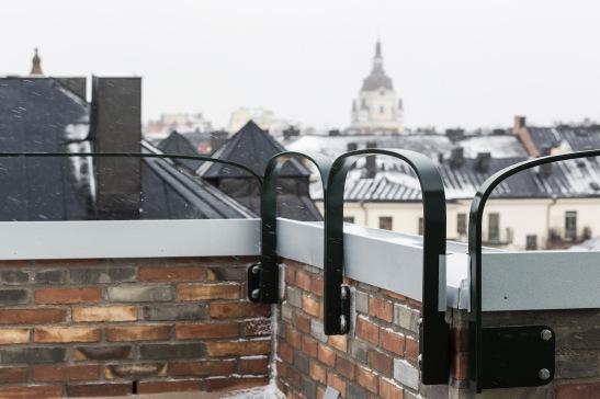 Södermalm Blekingegatan terrass CKR detalj räcke kyrka view Fantastic Frank