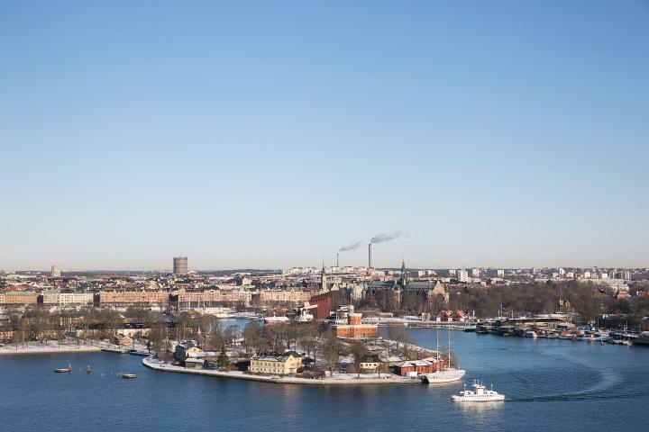 Stigbergsgatan Södermalm water view skeppsholmen ferry Fantastic Frank
