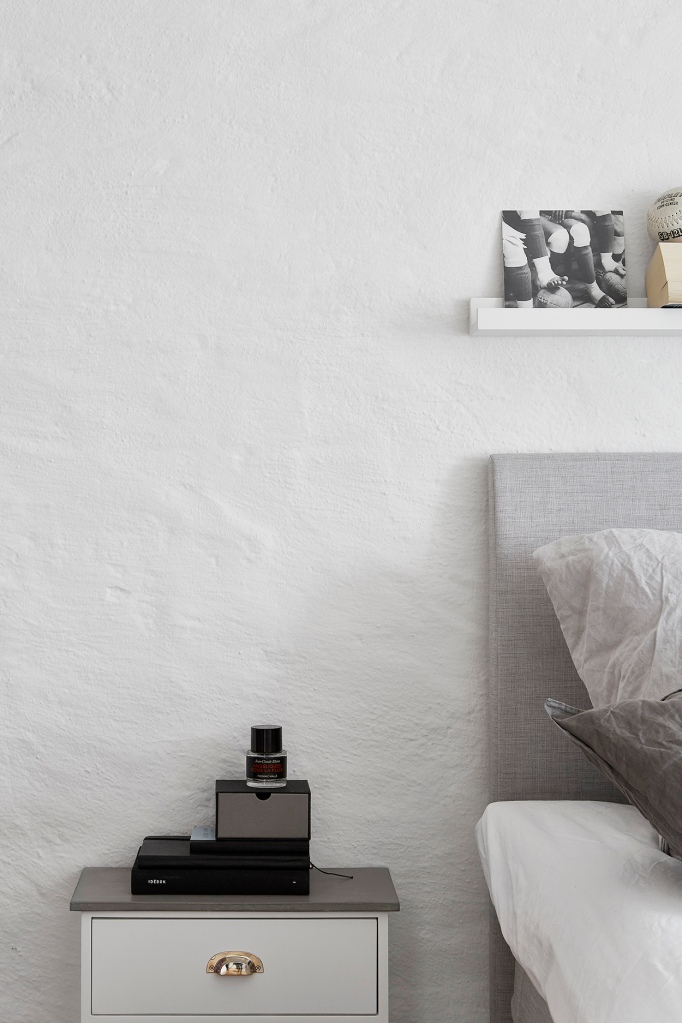 Tegnergatan bedroom details grey white Fantastic Frank