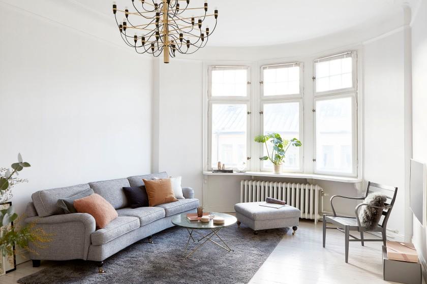 Torsgatan livingroom högt i tak Fantastic Frank