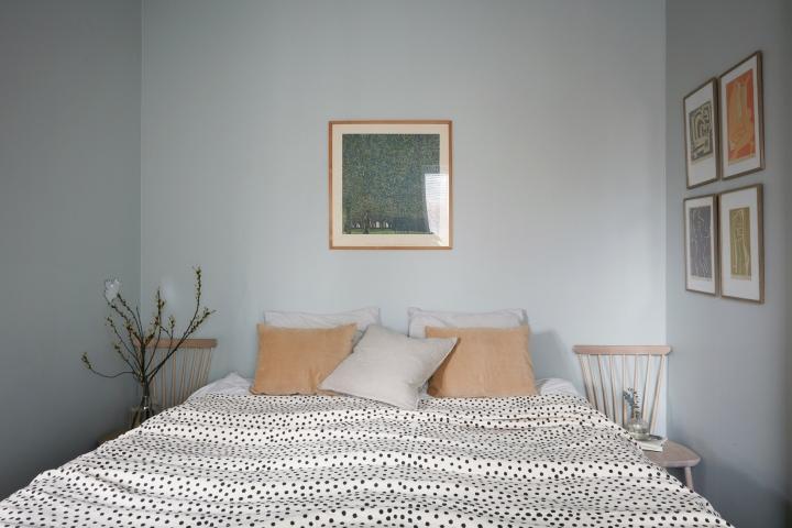 Bergtallsvagen bedroom dots pillows art fantastic frank