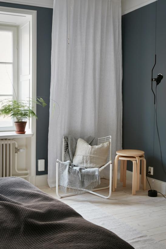 Falugatan Josefin Hååg Joakim Johansson bedroom blue walls ikea Fantastic Frank