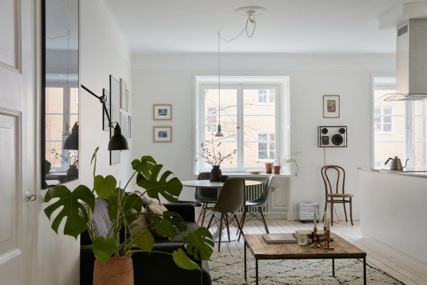 Falugatan Josefin Hååg Joakim Johansson livingroom open space thonet eames kitchen diningroom Fantastic Frank