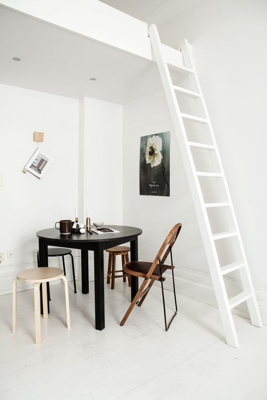 Luntmakargatan linnea salmen anna malmberg dahl by dahl black table loft ladder white wood fantastic frank