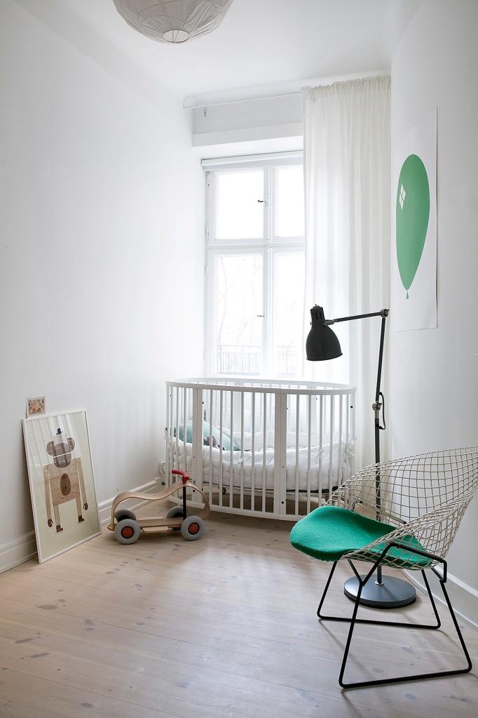 pontonjärgatan kids room green white spjälsäng fantastic frank
