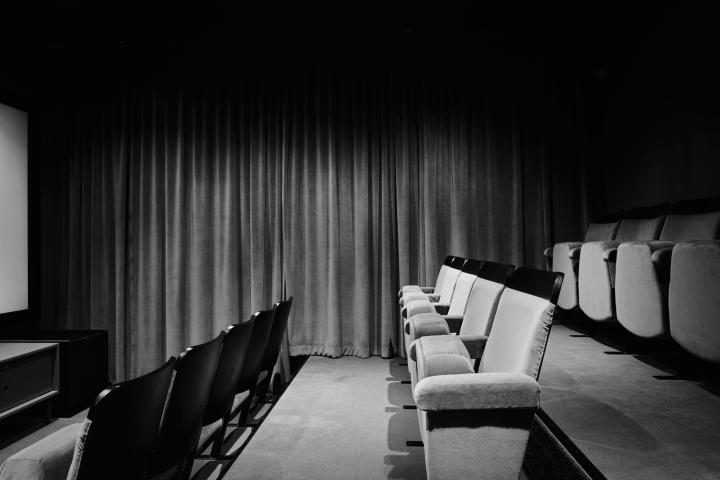 Textilgatan cinema common space grey black fantastic frank