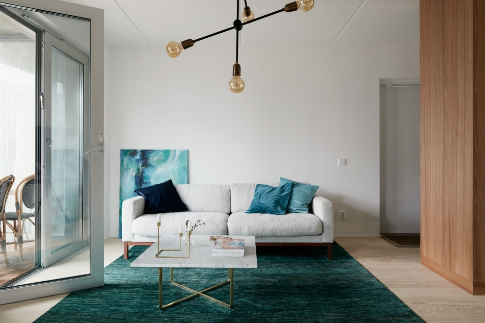 Textilgatan turqoise brass marble sofa livingroom lamp balcony fantastic frank