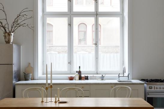 Birkagatan josefin hååg fantastic frank kitchen view thonet wood marble