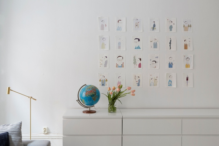 David Bagares gata art globe tulips brass Emily Laye Ida Lauga