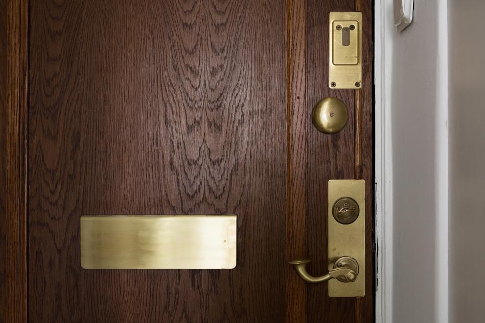 sveavägen fantastic frank therese winberg brass wooden door hallway
