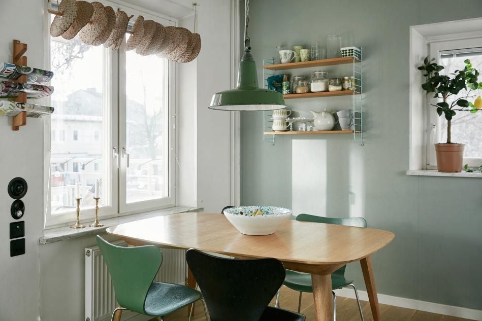 Ystadsvägen Mimmi Staaf Joakim johansson kitchen green walls retro knäckebröd myran fantastic frank